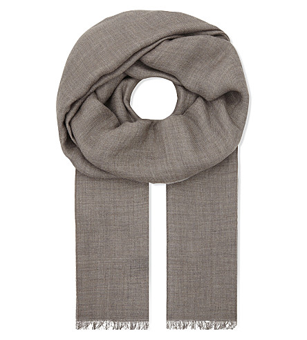 JANE CARR Bothy cashmere scarf (Buzzard