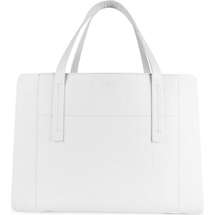 JOSEPH Leather tote (White/silver