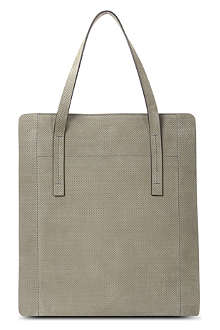 JOSEPH Perforated suede tote