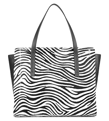 JOSEPH Zebra ponyskin tote (Black