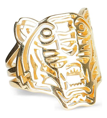 KENZO Tiger ring (Gold