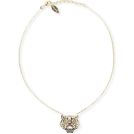 KENZO Tiger pendant necklace (Gold