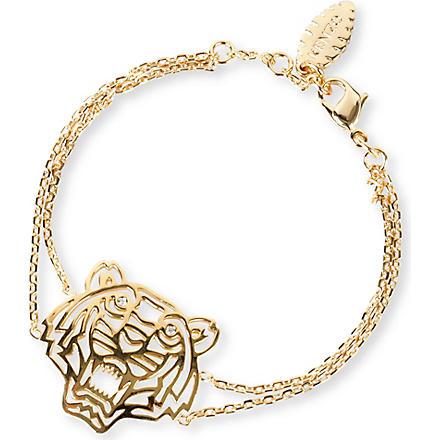 KENZO Tiger charm bracelet (Gold