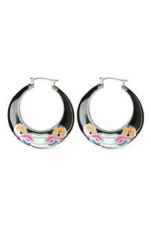 KENZO Tiger enamel hoop earrings