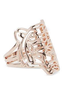 KENZO Kenzo rose gold tiger ring