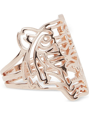 KENZO Kenzo rose gold tiger ring