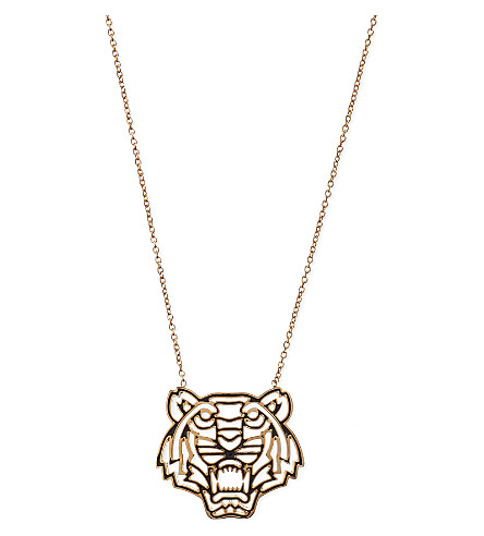 KENZO Tiger head necklace (Gold
