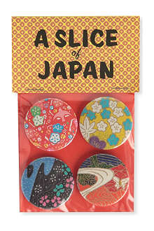 MARK PAWSON Slice of Japan set of four large badges