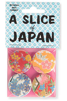 MARK PAWSON Slice of Japan set of four small badges