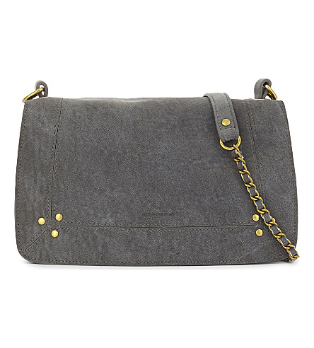 JEROME DREYFUSS Bobi suede shoulder bag (Ardoise