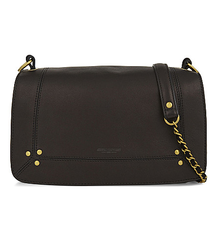 JEROME DREYFUSS Lambskin leather shoulder bag (Black/brass