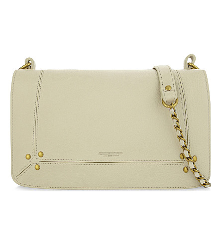 JEROME DREYFUSS Bobi calfskin leather cross-body bag (Creme