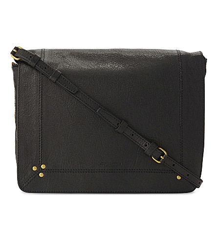 JEROME DREYFUSS Igor leather shoulder bag (Black