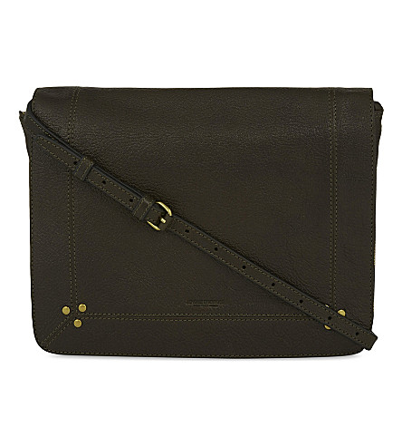 JEROME DREYFUSS Igor goatskin leather cross-body bag (Savane