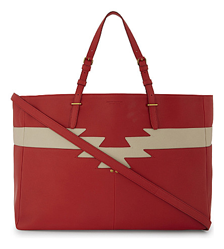 JEROME DREYFUSS Maurice leather tote (Rouge