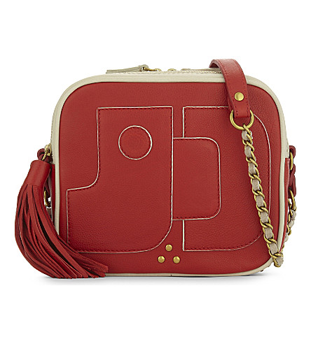 JEROME DREYFUSS Pascal leather cross-body bag (Rouge