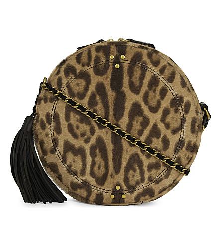 JEROME DREYFUSS Leopard print pony-hair and leather shoulder bag (Leopard