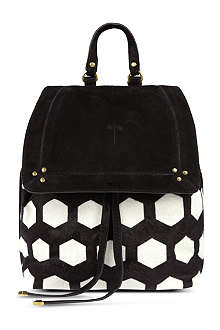JEROME DREYFUSS Florent calfskin hair backpack