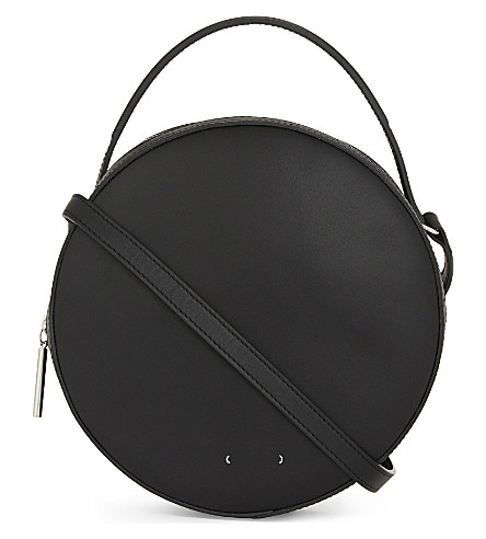 PB 0110 Tambourine leather cross-body bag (Black
