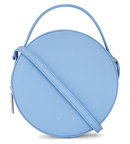 PB 0110 Tambourine leather cross-body bag (Baby blue