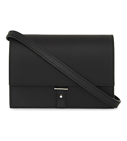 PB 0110 AB10 mini leather shoulder bag (Black