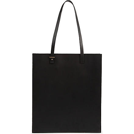 PB0110 Adjustable leather tote (Black