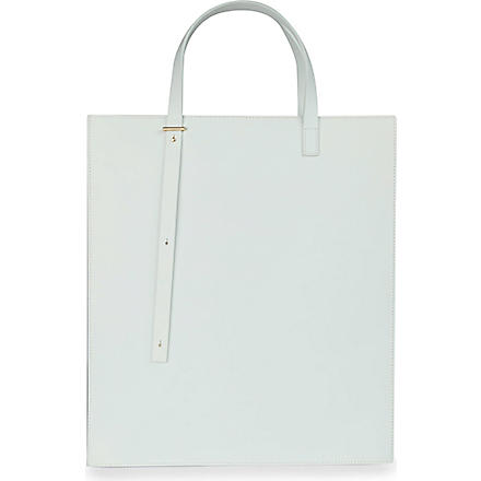 PB0110 Adjustable leather tote (Mint