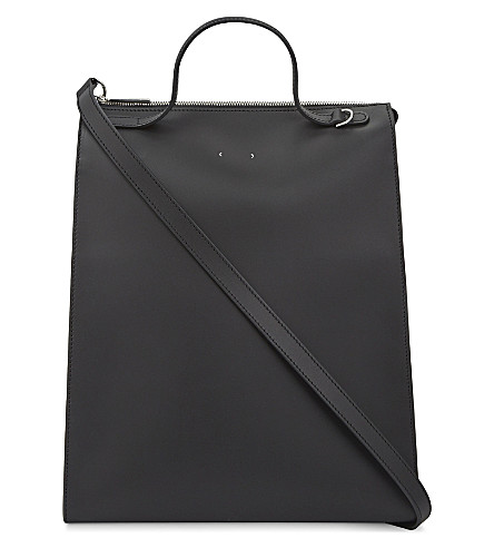 PB 0110 AB 36 smooth leather tote (Black