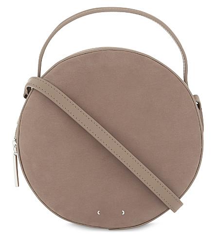 PB 0110 Nubuck shoulder bag (Smoke+velvet