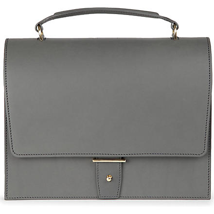 PB0110 Leather satchel (Grey