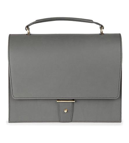 PB0110 Leather satchel (Grey
