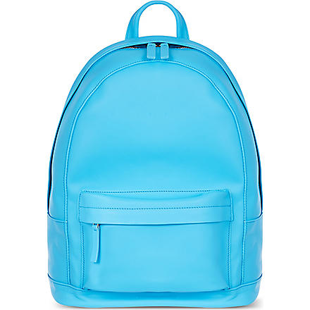 PB0110 Leather backpack (Cyan
