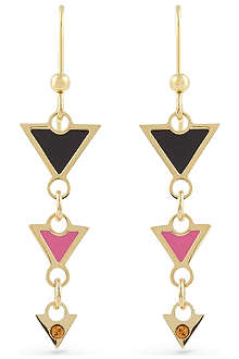MARIA FRANCESCA PEPE Triangle charm earrings