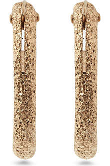 MARIA FRANCESCA PEPE Spike 23ct gold-plated hoop earrings