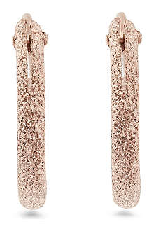 MARIA FRANCESCA PEPE Spike 23ct rose gold-plated hoop earrings