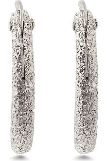 MARIA FRANCESCA PEPE Spike silver hoop earrings