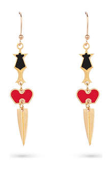 MARIA FRANCESCA PEPE Broken heart charm earrings