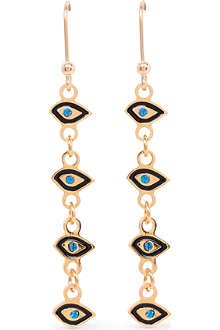 MARIA FRANCESCA PEPE Eye charm drop earrings