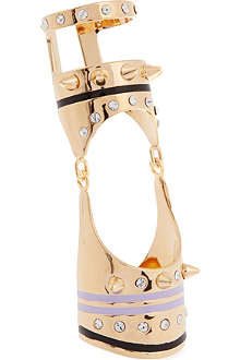 MARIA FRANCESCA PEPE 23ct gold-plated armour ring