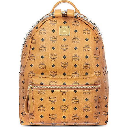 MCM Stark studded backpack (Cognac