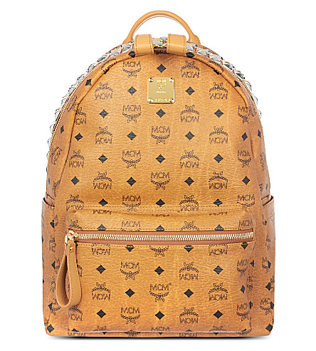 MCM Stark studded backpack (Cognac