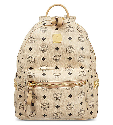 MCM Small classic Stark backpack (Beige