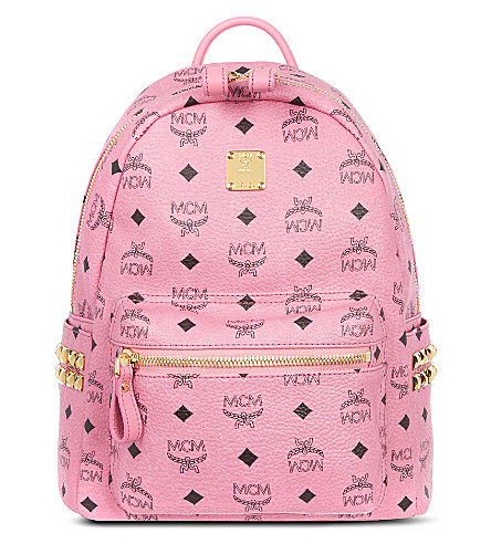 MCM Stark studded small leather backpack (Pink