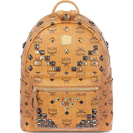 MCM Stark M studs backpack (Cognac