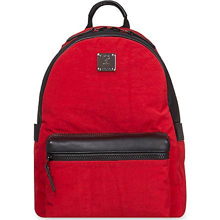 MCM Stark medium reversible backpack (Red
