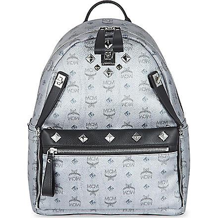 MCM Medium dual Stark backpack (Silver