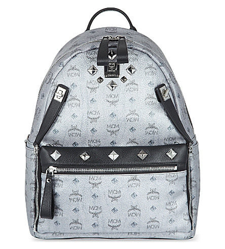 MCM Medium dual Stark backpack (Silver