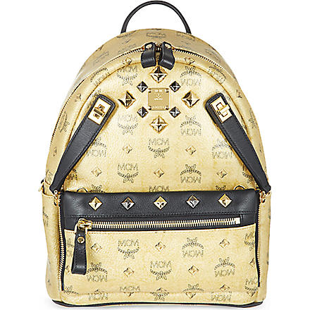 MCM Small dual Stark backpack (Gold