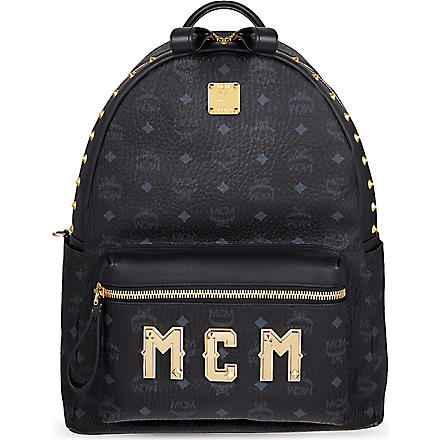 MCM Logo lettering medium backpack (Black