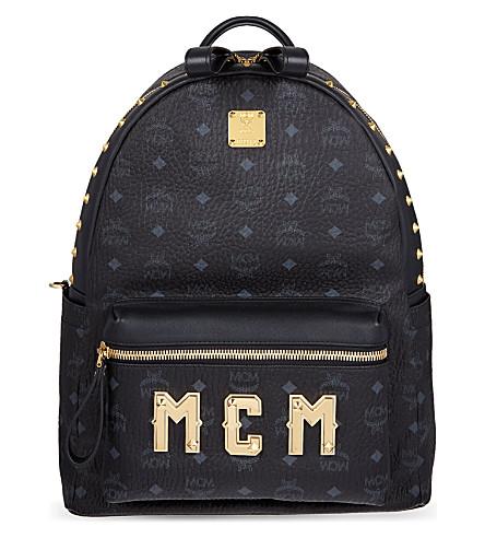 MCM Logo lettering medium backpack (Black